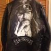 Printed and wrapped Lemmy leather jacket.