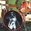 Lemmy printed and wrapped bass drum head.