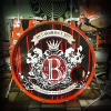 "Full-color wrapped print on clear 22"" bass drum head for a wedding."